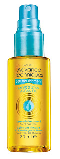 Avon Advanced Techniques Moroccan Argan Oil Leave in Treatment