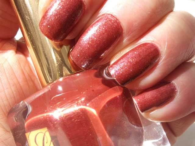 Estee Lauder Fiery Hot Pure Color Nail Lacquer Swatch
