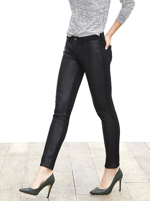 Banana Republic Leather Skinnies
