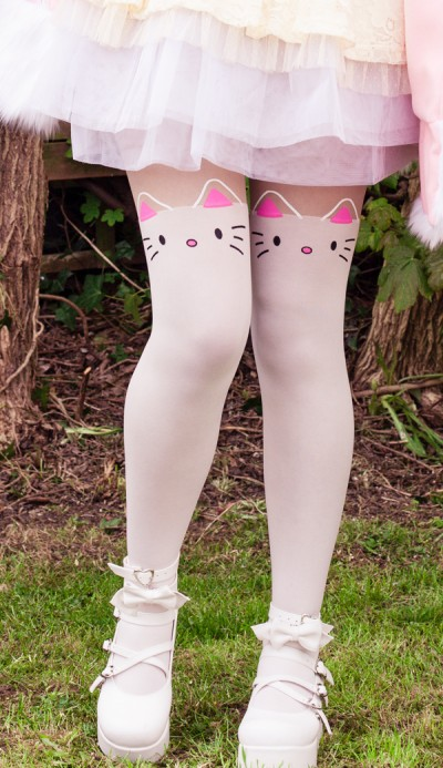 White Cat Tights