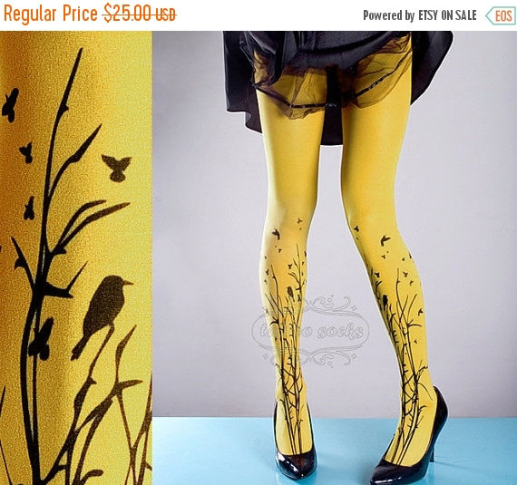 Yellow Forest Tights