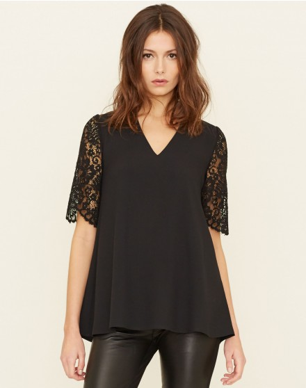 Lace Swing Sleeve Top