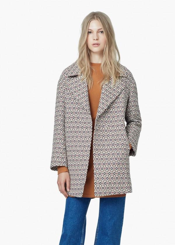Mango Mosaic Coat