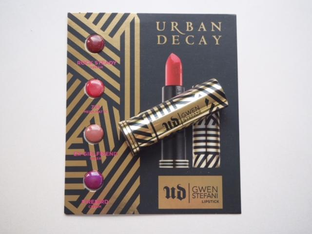 Gwen Stefani Urban Decay Lipsticks