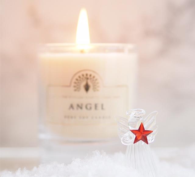 English Soap Company Angel Candle