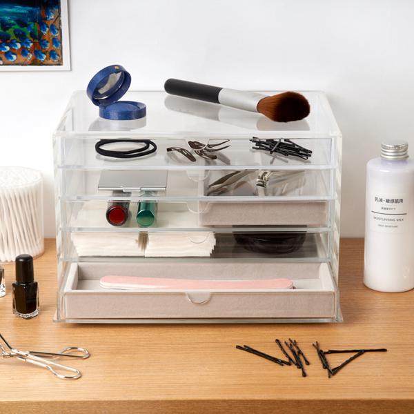 Acrylic 5 Drawer Box 2