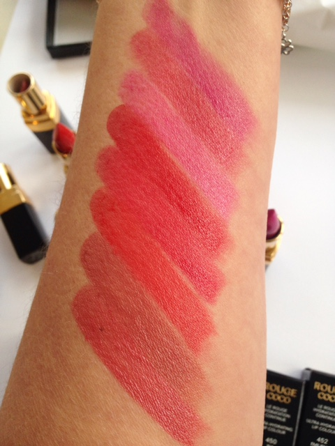 Rouge Coco Swatches