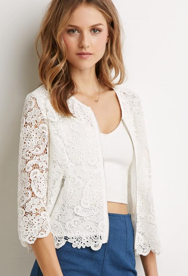 Floral Paisley Crochet Jacket
