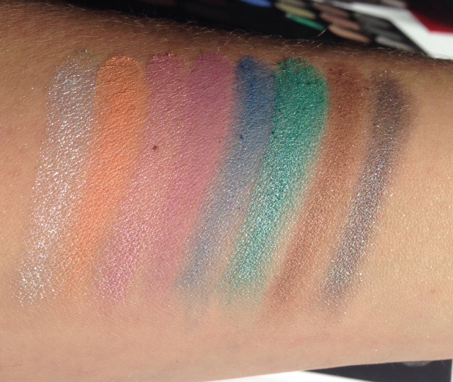 Makeup Revolution Mermaids Forever Swatches Line 2