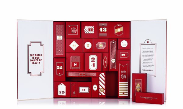 The Body Shop Red Advent Calendar 1