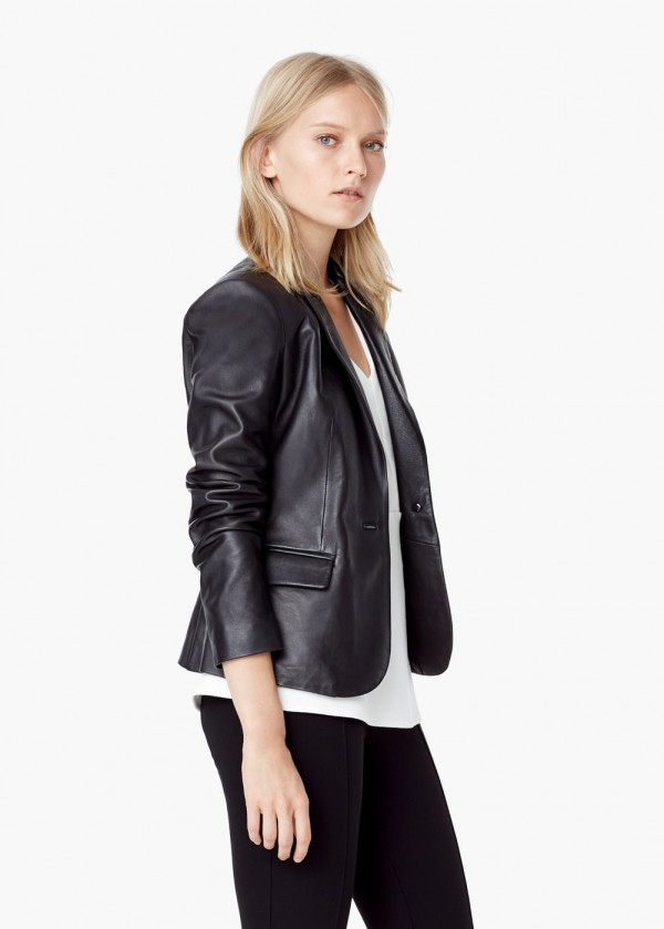 Mango Leather Jacket