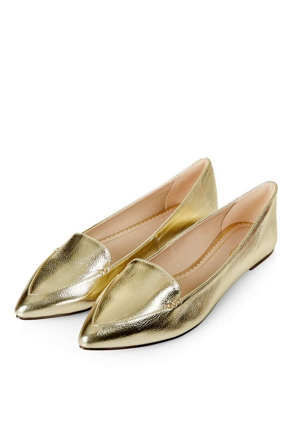 Top Shop Gold Shoes