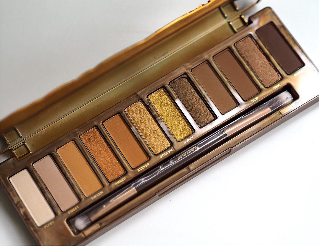 Urban Decay Naked Heat Palette - swatches and review on
